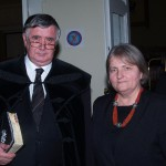 Bölcskei püspök és Riskóné Fazekas Márta igazgató
